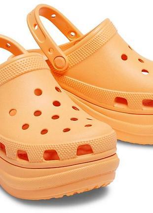 Сабо кроксы crocs classic bae cantaloupe