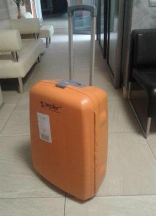 New чемодан zepter дорожный синий - оранжевый