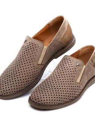 Мужские польские летние туфли, люкс, натуральная кожа,  40-45 р, синий, оливка, чёрный