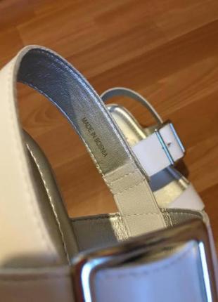 Кожаные босоножки на платформе graceland 37-38р4 фото