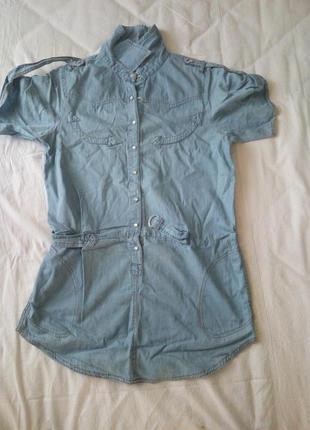 Джинсовая рубашка (туника)