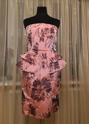 Платье миди баска