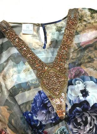 Винтажная шёлковая блуза madeleine 100% шёлк4 фото
