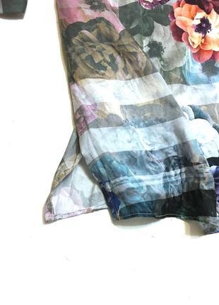 Винтажная шёлковая блуза madeleine 100% шёлк2 фото