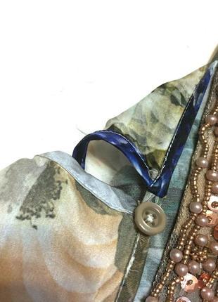 Винтажная шёлковая блуза madeleine 100% шёлк7 фото