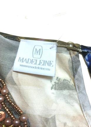 Винтажная шёлковая блуза madeleine 100% шёлк6 фото