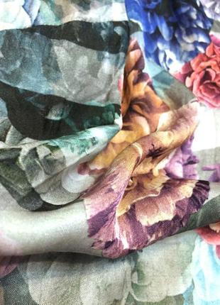 Винтажная шёлковая блуза madeleine 100% шёлк5 фото
