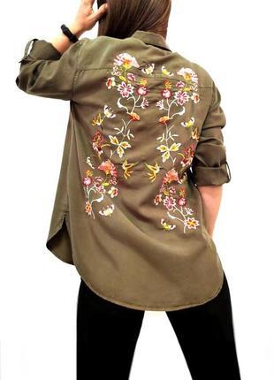 Рубашка из лиоцела блуза с вышивкой лиоцел promod