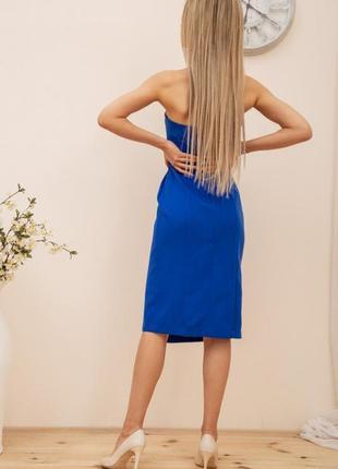 Платье, цвет синий3 фото