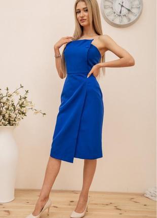 Платье, цвет синий2 фото