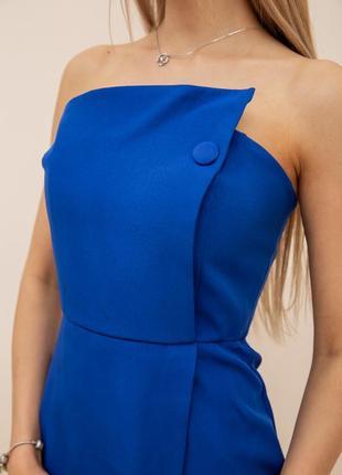 Платье, цвет синий4 фото