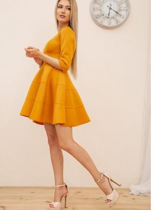 Платье, цвет горчичный2 фото