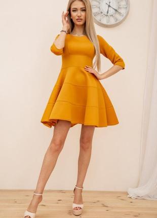 Платье, цвет горчичный