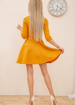 Платье, цвет горчичный3 фото