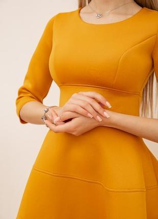 Платье, цвет горчичный4 фото