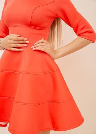 Платье, цвет коралловый4 фото