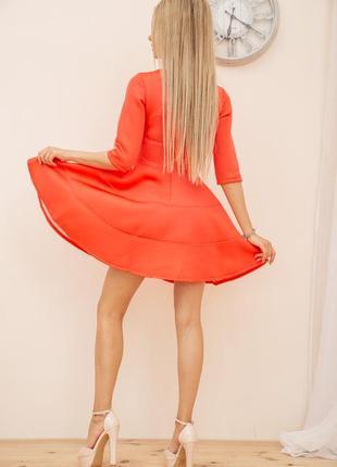 Платье, цвет коралловый3 фото