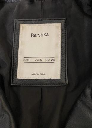 Кожаная куртка косуха bershka2 фото
