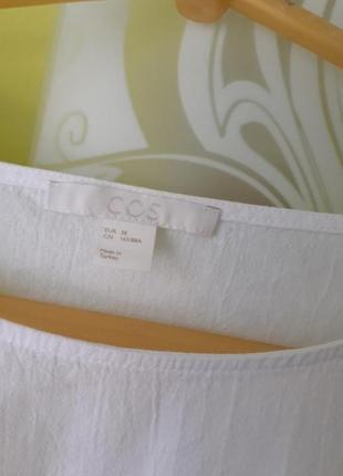 Белая блуза блузка cos3 фото