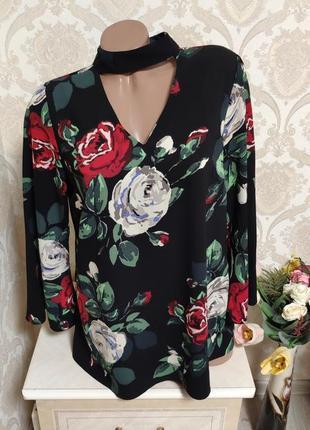 Красивая блуза, цветочный принт6 фото