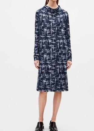 Натуральное удлиненное платье cos, xs 34, швеция