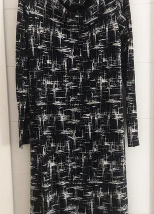 Натуральное удлиненное платье cos с карманами и интересным воротником, xs 34, швеция4 фото