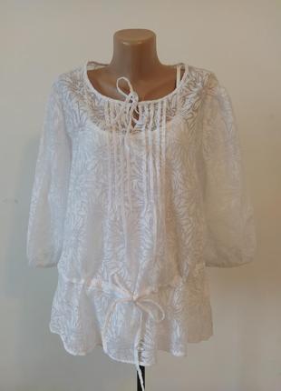 Шикарная невесомая белая блузка
