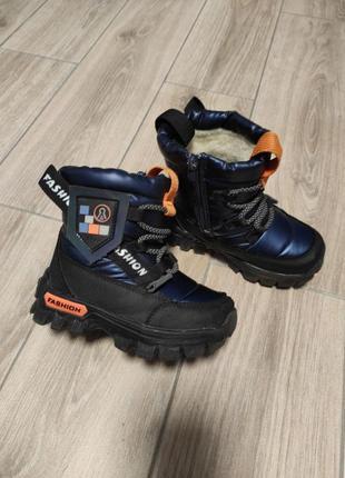Красивые теплые стильные сапоги сапожки ботинки дутики