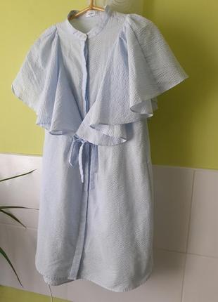 Шикарное платье с оборками воланами от mango