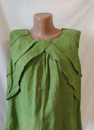 Оригинальная льняная блузка_100%лен
