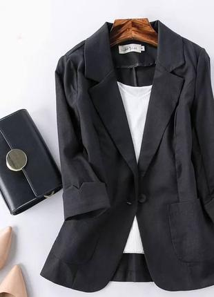 Пиджак лён1 фото