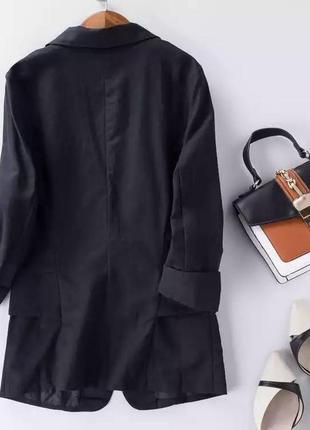Пиджак лён2 фото
