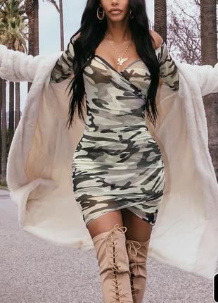 Платье сетка платье камуфляж