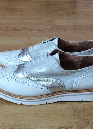 Кожаные туфли varese 41 размера в идеальном состоянии