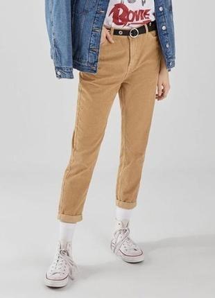 Ефектні красиві вільветові бежеві штани select anne l.