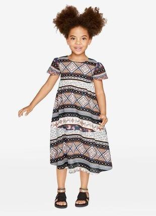 Платье из хлопка для девочки, 92, heidi klum by lupilu, германия