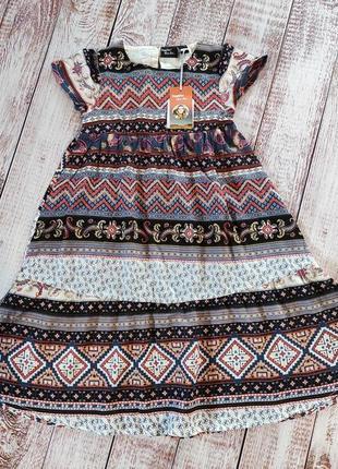 Платье из хлопка для девочки, 92, heidi klum by lupilu, германия3 фото