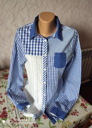 Очень стильная рубашка 100% хлопок бренд