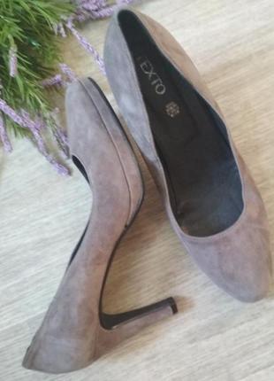 Туфли натуральный замш texto2 фото
