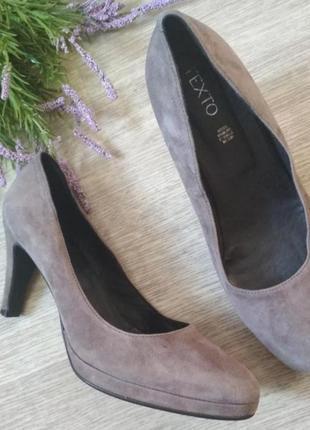 Туфли натуральный замш texto3 фото