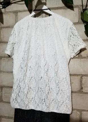 Брюки трубы с люрексом и гипюровая блуза блузон ажурный8 фото