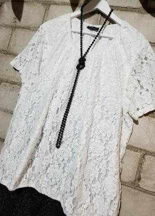 Брюки трубы с люрексом и гипюровая блуза блузон ажурный7 фото