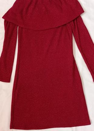 Платьеттемно червоне з блиском
