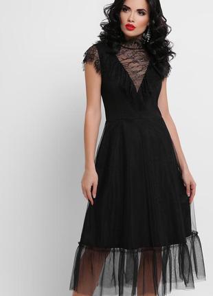 Скидка 9 мая кружевное черное платье s, m, xl