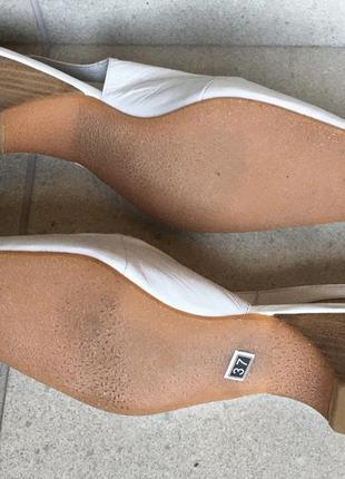 Кожаные белые босоножки натуральная кожа2 фото