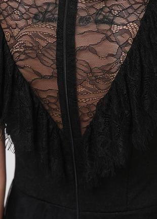 Кружевное черное платье s, m4 фото