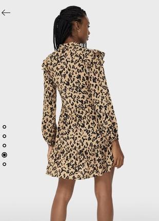 Платье-рубашка с воланом stradivarius3 фото