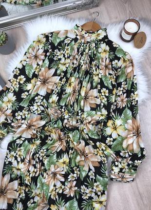 Плісерована сукня максі в квітковий принт2 фото