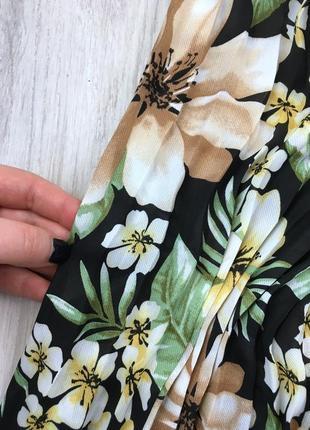 Плісерована сукня максі в квітковий принт4 фото