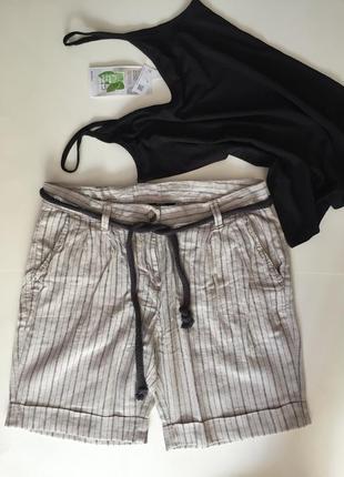 Льняные шортики, размер м (38). бренд esmara